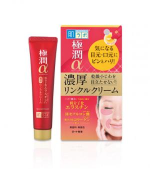 Ліфтинг крем-концентрат для очей та носогубних зморшок HADA LABO Gokujyun Alpha Special Wrinkle Cream 30g